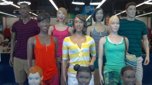 Happy-mannequins family