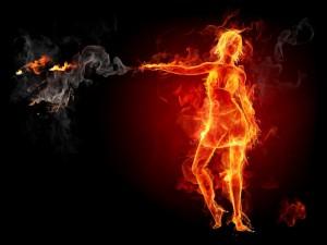 woman on fire deviant