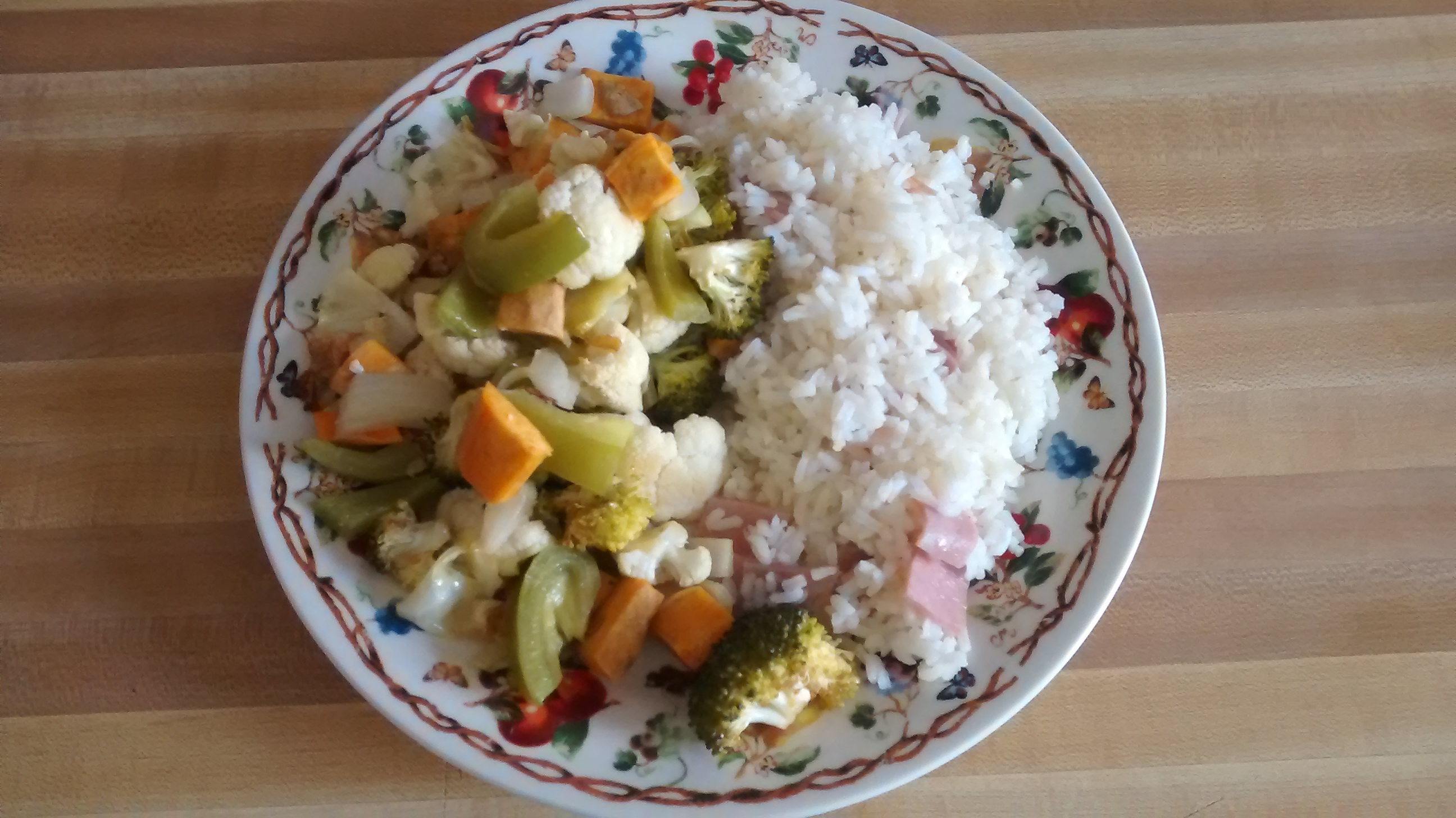 Roasted Vegetables with Rice